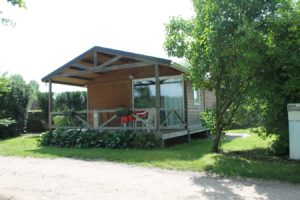 Chalet, Bois, camping, terasse