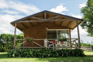 Chalet,Bois, camping, terasse